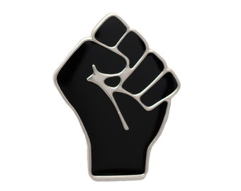 Black Raised Fist of Solidarity