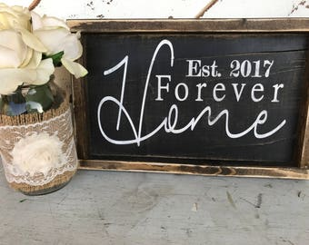 Home / house warming gift / established date / new home / home decor / gift / friends / real estate / realtor