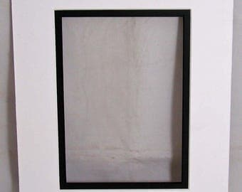 Double Mat Borard White with Black reveal 8 x 10 to fit 5 x 7 image