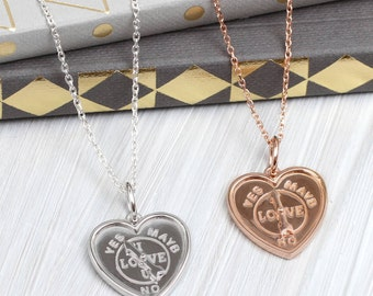 Personalised 'I Love You' Arrow Spinner Necklace