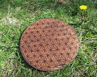 Ready To Ship OOAK Flower of Life Crystal Grid