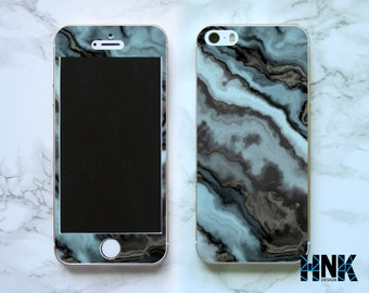Iphone SE full skin / Iphone 5s decal / Iphone 5 decorative cover / marble texture case IS010