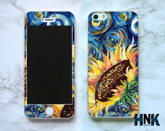 Iphone SE full skin / Iphone 5s decal / Iphone 5 decorative cover / expressionism painting case IS014