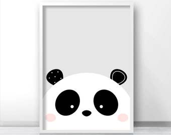 Panda Print, Nursery Art Printable, Instant Download Nursery Print, Kids Art, Baby Animal Print, Digital Download Art, Panda Nursery Decor