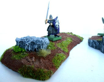 Landscape for the game: meadow type, 1 stage, Rock formations ground, terrain for warhammer miniatures, wargame, 40k, fantasy.