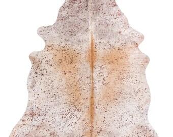 Devore Metallic Bronze on White