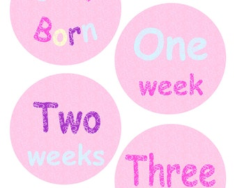Month Stickers Baby Month Stickers Milestone Stickers Baby Week Stickers Free Gift Baby Shower Monthly Baby Decals Month To Month Stickers