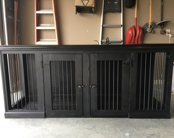 Dog Kennel antique black