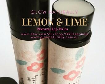 Natural Lip Balm - Lemon & Lime