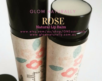 Natural Lip Balm - Rose