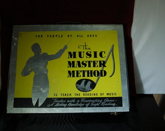 Unique and Unusual Music Teaching Game from 1946 'The Music Master Method' by Dr. and Mrs. Herl Crowthers    01281