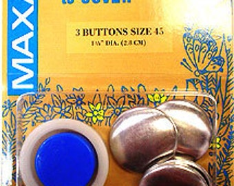 Maxant Buttons to Cover Kit of 3 Buttons Size 45 -- 1-1/8 inch
