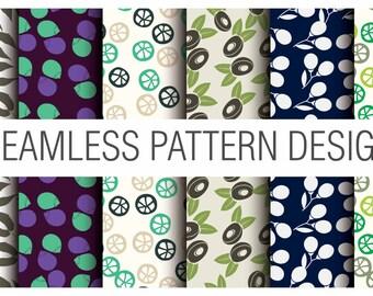 Pack of 6 Printable Digital Beautiful Seamless Patterns