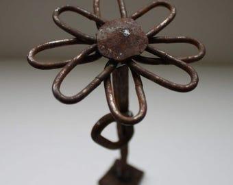 Metal rusty Flower-2. Handmade. Art object