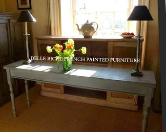 Made to Order Bespoke Handcrafted 'Belle Biche' Sofa / Console Table