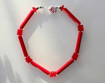 Yes:  Vintage Red Lucite Statement Necklace