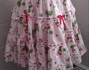 Gothic Lolita Sweet Ruffle Tiered Skirt