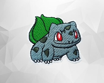 Bulbasaur Iron on Patch(M2)-Pokemon Go Applique Embroidered Iron on Patch-Size 6.4x6.4cm
