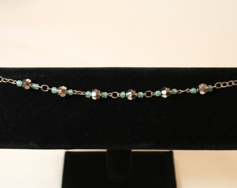 Metal and Glass Beaded Bracelet BS01