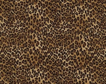 Timeless Treasures Tiny Leopard Print Fabric / Leopard Print Fabric / Timeless Treasures c2722 / Fat Quarter and Yardage
