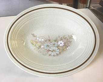 Oval Vegetable Serving Bowl in the Florinda pattern (#LS1042) from Royal Doulton's  tableware called Lambethware, Tableware Royal Doulton