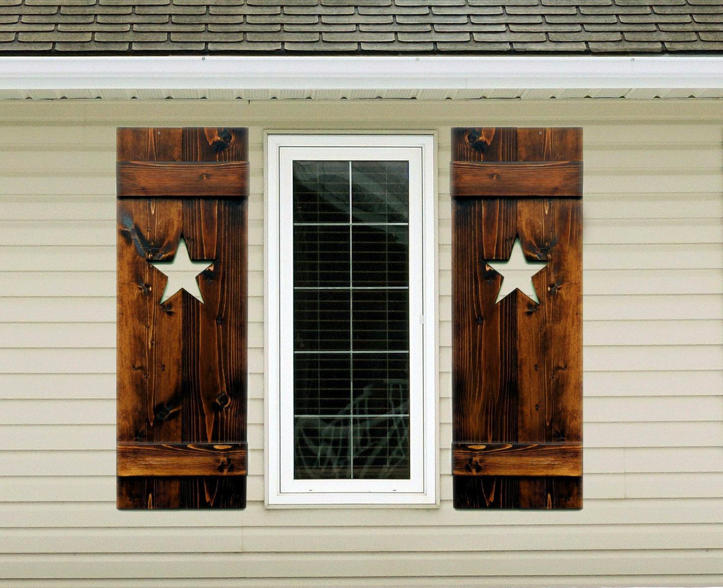 rustic shutters wood shutter interior shutter exterior shutter decorative shutter western - Decorative Shutters