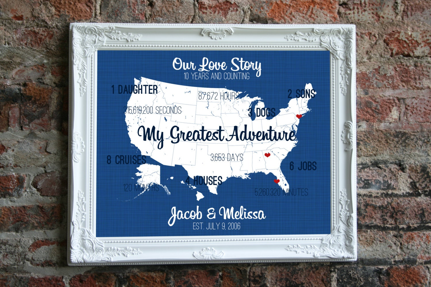 10 Years Wedding Anniversary Gift Ideas: 10 Year Anniversary Gift For Him 10th Anniversary By