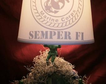 Marine American Flag Lamp