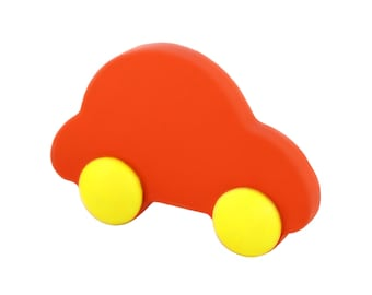 Orange dresser drawer handles Nursery drawer knobs Boys cabinet knobs and pulls Orange car knobs Wardrobe car handles Nursery car room decor