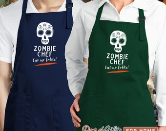 Funny Apron, Zombie Gift, Mens Apron, Zombie Apron, Womens Apron, Zombie Apocalypse, Zombie Christmas, Zombie Party, Zombie Survival Kit