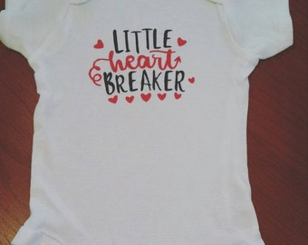 Little Heart Breaker Onesie Bodysuit or Toddler Tee