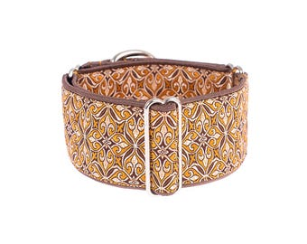 1,5 inch Martingale collar, 1.5 inch,  martingale dog collar, brown, martingale collars, greyhound, whippet, galgo