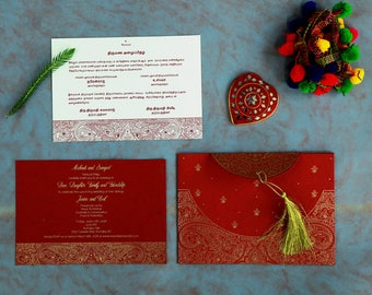 Indian wedding Invite for your royal wedding!! Cards Code : W-8234L