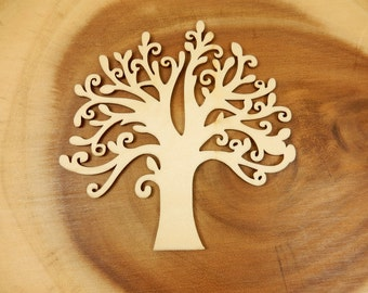 Wooden Tree, Wishing Tree, DIY Wedding Guestbook, Blank Tree Cut Out, Crafting, Tree Shape
