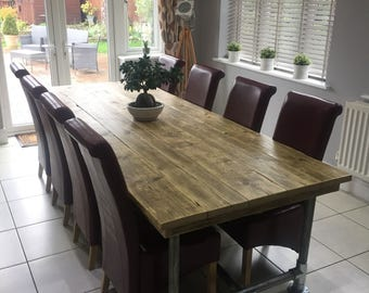 Reclaimed Scaffold board dining table 6x3 All sizes made