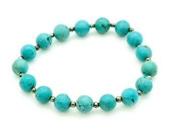 Turquoise & Pyrite Bracelet