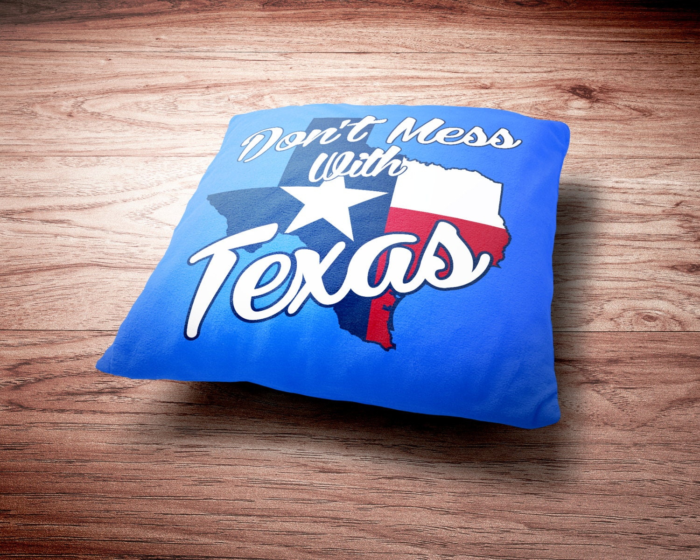 Texas Throw Pillow - Don't Mess With Texas Throw Pillow
