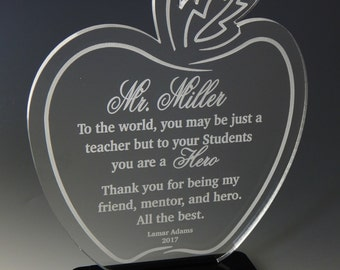 Custom Teacher Appreciation Gift, Student to Teacher Thank You Gift, Personalized Gift to an AwesomeTeacher,Teachers Week Gift, ATA008