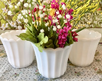 Milk Glass Vase Milk Glass Bowl Small Vase Wedding Vases Bulk Vases Wedding Centerpiece White Vases Milk Glass Candy Dish Sold Individually