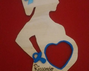 Ultrasound picture frame door pregnant woman