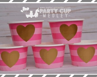 Valentine Party-Valentine Hearts Cups-Treat Cups