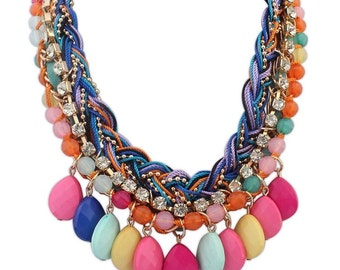 Multi stand colourpop necklace