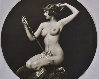 Alfred Cheney Johnston, Ziegfeld Follies Girl with Mirror, Ribbons, 1920-30s