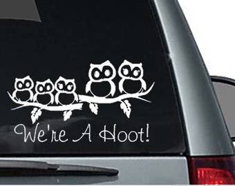 Owl Family Decal Etsy - How to make your own vinyl decals for cars