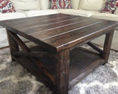 Rustic X Base Coffee Tabl...
