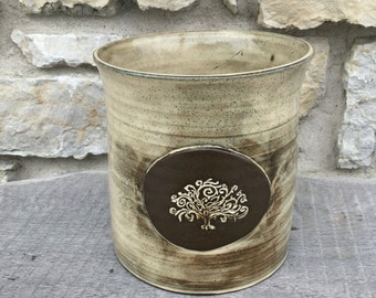 Tree of Life Pottery Utensil Holder
