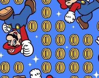 Game Scenes Cotton Woven, Mario Fabric, Super Mario Fabric, Mario Brothers Fabric, Super Mario Brothers Fabric, Game Fabric, Nintendo Fabric