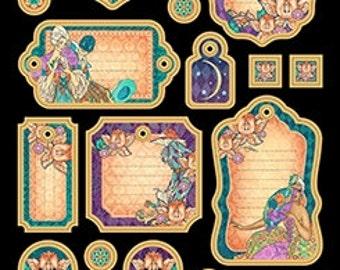 "Graphic 45 ""Midnight Masquerade"" Journaling Chipboard"
