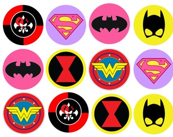 Edible Super Girl Cupcake/Cookie toppers