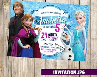 Frozen Invitation, Frozen Party, Frozen Birthday Invitation,  Frozen Invitation, Frozen Theme Printables, Frozen printable